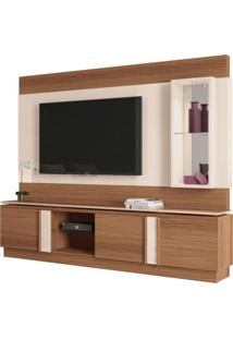 Estante Home Theater Para Tv Até 70 Pol. Vértice Nature/Off White - Hb Móveis