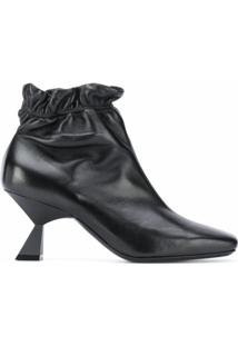 Givenchy Ankle Boot Com Bico Quadrado E Salto 75Mm - Preto