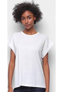 Camiseta Forum Básica Lisa Feminina - Feminino-Areia
