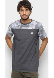 Camiseta Hang Loose Esp Leaves Masculina - Masculino-Grafite