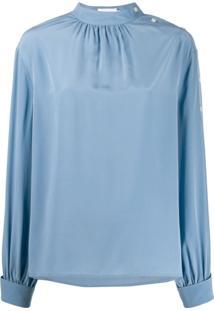 Calvin Klein Blusa Mangas Longas - Azul
