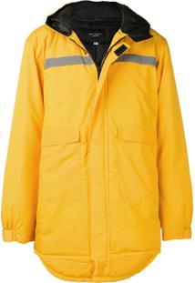 Not Guilty Homme Parka Longa Com Logo - Amarelo