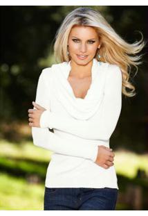 Blusa Em Tricô Off White