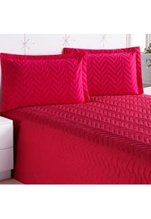 Cobre Leito Enxovais Aquarela Clean Casal 01 Peã§As Pink - Vermelho - Dafiti