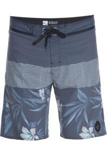 Bermuda Quiksilver Boardshort Heatwave Blocked - Masculino-Azul Escuro