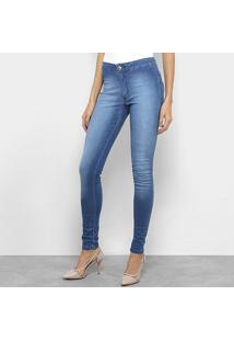 21923d080 ... Calça Jeans Cigarrete Biotipo Cintura Alta Feminina - Feminino-Azul