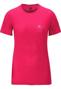 Camiseta Salomon Feminina Hybrid Ss Pink Pp