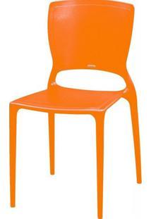 Cadeira Sofia Encosto Fechado Polipropileno Laranja - 20041 - Sun House