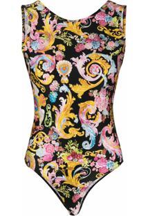 Versace Jeans Couture Body Com Estampa Barroca - Preto