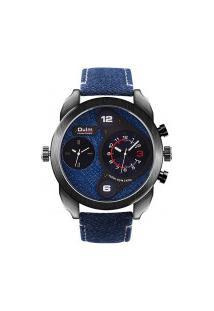Relógio Masculino Oulm Hp9316 Analógico - Azul Navy