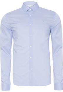 Camisa Masculina Slim Monte Carlo - Azul