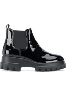 Agl Ankle Boot Com Elã¡Stico - Preto