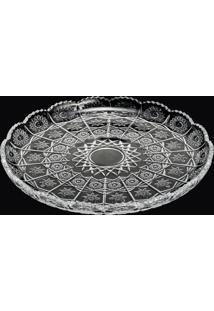 Prato P/Bolo De Cristal De 30Cm Starry - Linha Refinement