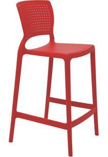 Cadeira Alta Safira- Vermelha- 93,5X48X47Cm- Tratramontina