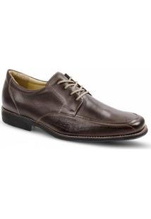 Sapato Social Masculino Derby Sandro & Co Clamor - Masculino-Marrom Escuro
