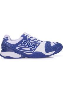Tênis Fila Cage Delirium Clay Azul Royal E Branco-44 - Masculino