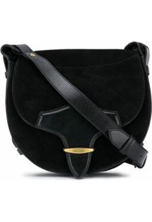 Isabel Marant Botsy Leather Shoulder Bag - Preto