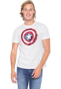 Camiseta Cativa Marvel Capitão América Branca