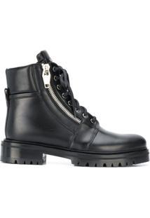 Balmain Ankle Boot Com Zíper - Preto
