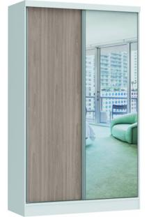 Guarda Roupa Prisma Glass Linha Quarto Castro 2 Portas Com 1 Espelho