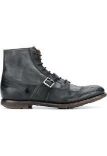 Church'S Ankle Boot Com Fivela - Preto