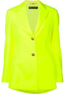 Versace Blazer Slim Florescente - Amarelo