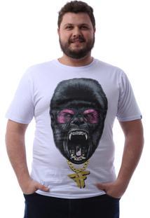 Camiseta Fallen Mad Kong Ex Branco