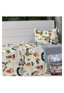 Kit 1 Cobre Leito Casal + 1 Porta Travesseiro Ultrasonic Bouti Magic - Bene Casa