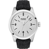249d7b90bbe Relógio Hugo Boss Masculino Couro Cinza - 1530027