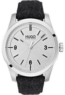 Relógio Hugo Boss Masculino Couro Cinza - 1530027
