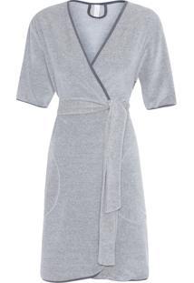 Robe Curto Plush Bélgica - Cinza