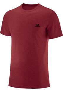 Camiseta Salomon Cotton Ss Masculino P Vermelho