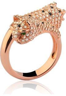 Anel Le Diamond Pantera Dourado