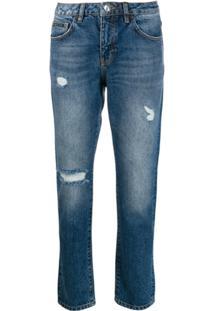 Philipp Plein Calça Jeans Boyfriend 'Statement' - Azul