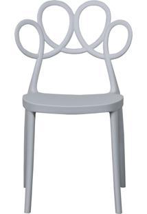 Cadeira Decorativa Para Cozinha Laço Branco - Gran Belo