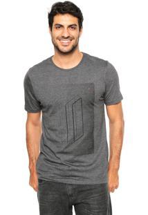 Camiseta Aramis Regular Fit Retângulos Cinza