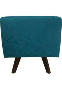 Puff Pã© Palito Quadrado Alce Couch Velvet Next Turquesa 40Cm - Azul - Dafiti