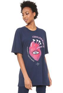 Camiseta Cantão Coração Mente Azul