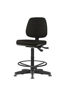 Cadeira Job Assento Courino Base Caixa Metalica Preta - 54537 Preto