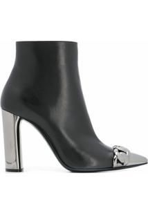 Casadei Ankle Boot Com Salto - Preto