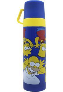 Garrafa Térmica Com 2 Xícaras 500 Ml Simpsons Caretas