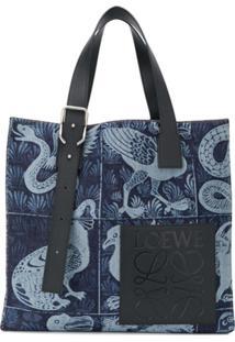Loewe Bolsa Tote William De Morgan Com Estampa - Azul