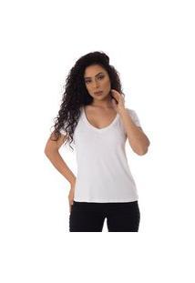 T-Shirts Daniela Cristina Gola V Profundo 10273 2 Branco
