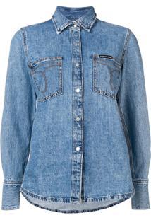 Calvin Klein Jeans Denim Shirt Jacket - Azul