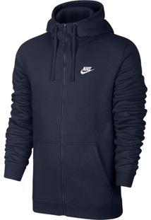 Blusa Moletom Nike Hoodie Fz Flc Club
