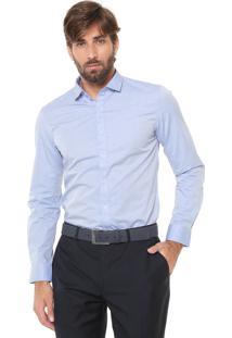 Camisa Ellus Reta Estampada Azul