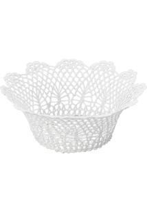 Cesta Redonda Em Forma De Croche Impermeável De Plástico 24X9 Cm - Unissex