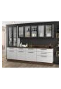 Cozinha Compacta Exclusive Ii 10 Pt 6 Gv Branca E Preta