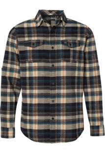 Camisa Blanks Co Flanela Xadrez 8210 Khaki - Masculino