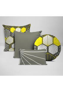 Kit 4 Almofadas Divine Geométrico